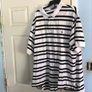 Striped Polo Ralph Lauren Collared Shirt!